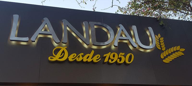 Letras corp reas en acero inoxidable en paraguay por - Fabricacion letras corporeas ...