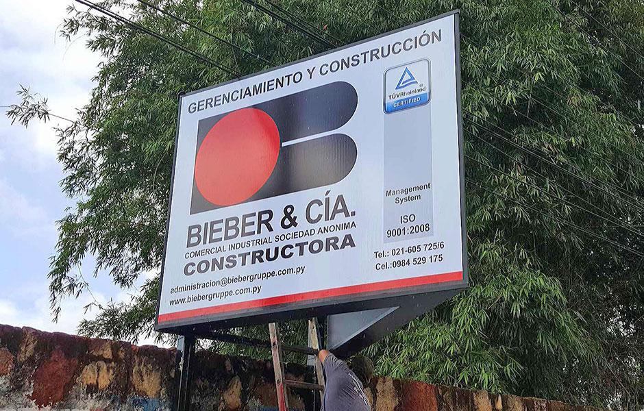cartel rutero en paraguay