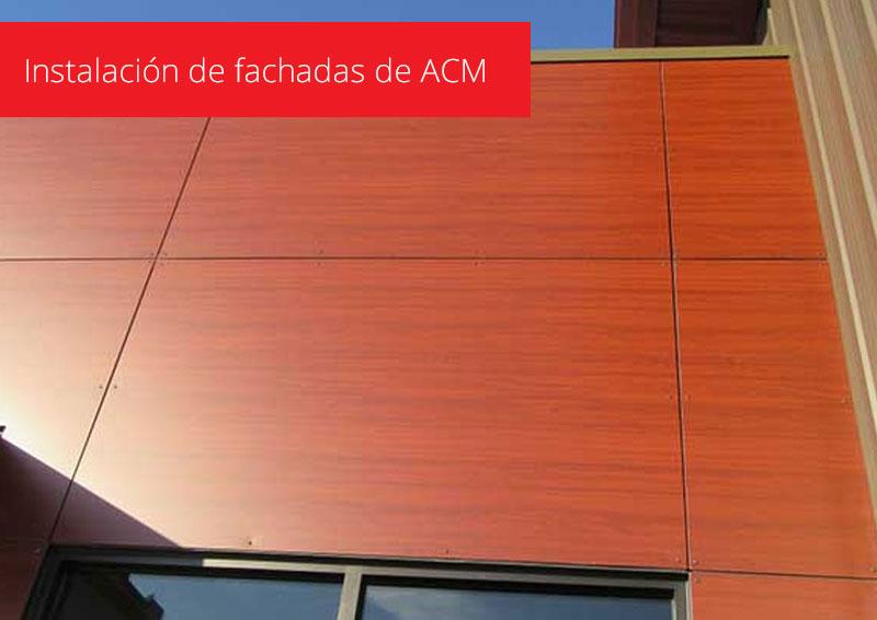 Instalacion de Paneles ACM